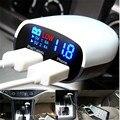 Лучшая Цена 2-портовый LED Универсальный USB Автомобильное Зарядное Устройство Адаптер Mini 5 В 3.4A Напряжение Монитор