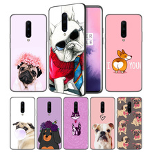 Pitbull Pomeranian Soft Black Silicone Case Cover for OnePlus 6 6T 7 Pro 5G Ultra-thin TPU Phone Back Protective