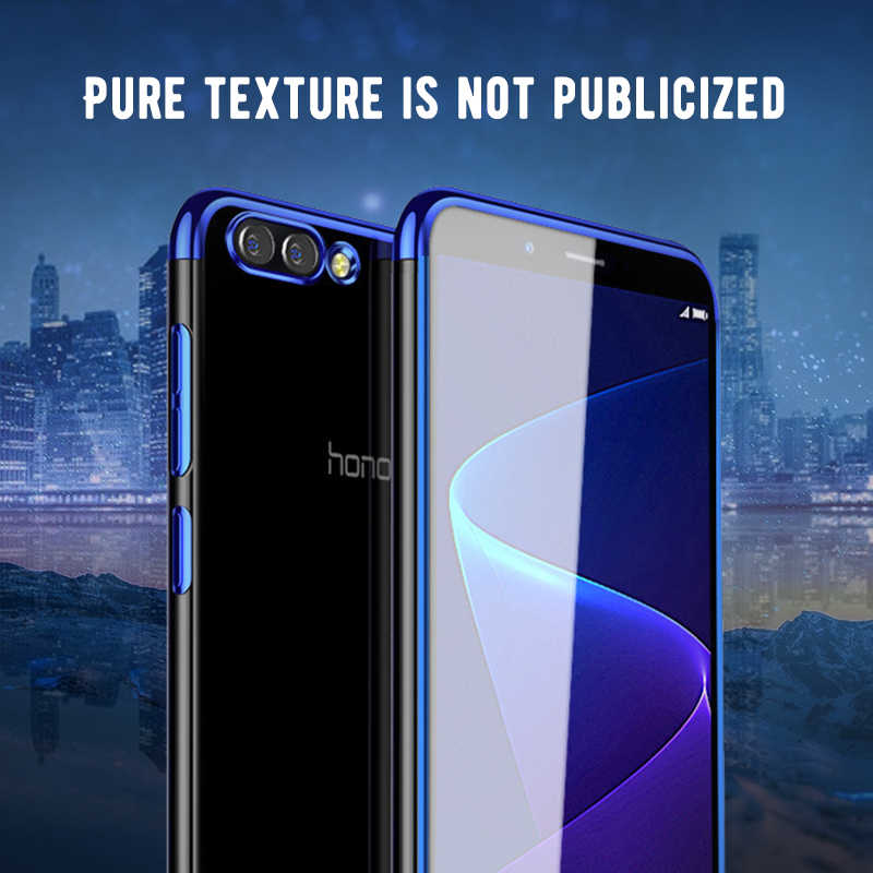 Crystal Clear Plating Phone Case For Huawei Honor 8X Max 8C Note 10 7X 10 9 8 Lite 6C Pro V10 V9 Play 8 X 8x Cover Capa Fundas