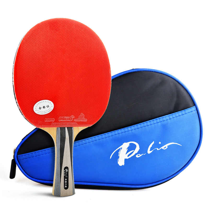 Palio Table tennis racket cj8000 /AK47 rubber Ping Pong carbon Racket tenis de mesa table tennis fast attack loop