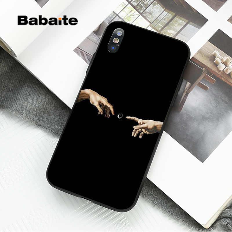 Babaite Vintage estatua de yeso David Art impresión negro suave funda de teléfono para iPhone 8 7 6 6S Plus X XS MAX 5 5S SE XR Fundas Capa