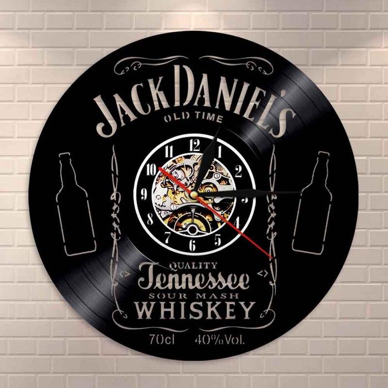 2019 Horloge Murale Saat Horloge Murale Klok grande Horloge Murale livraison gratuite vinyle rétro nostalgie Jack Daniel & #39; 1 S Whisky