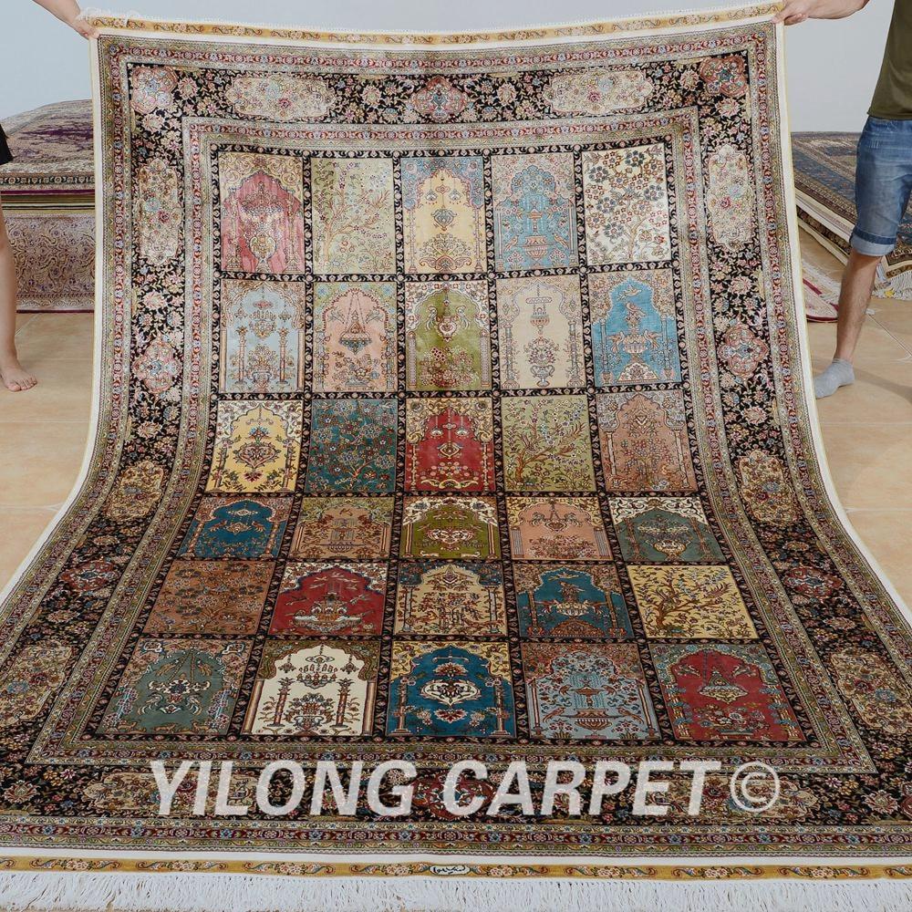 Yilong 6'x9 'Kashmiri vier seizoenen tapijten vantage handgemaakte - Thuis textiel