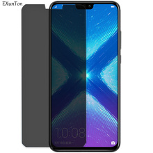 EXUNTON Anti Spy Privacy Tempered Glass For Huawei Honor 8X 7X 6X Max Honor8X Honor7X Honor6X 2.5D Screen Protector 9H Film