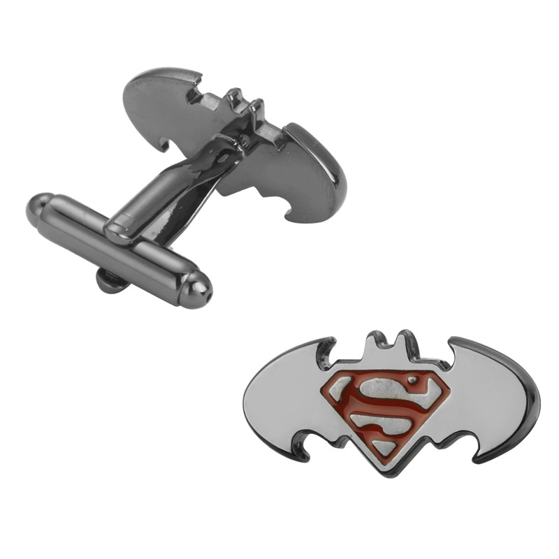 High Quality Fashion Men's Superman Batman Cufflinks French Wedding Cufflinks 5 Pair Of Wholesale And Retail Packaging