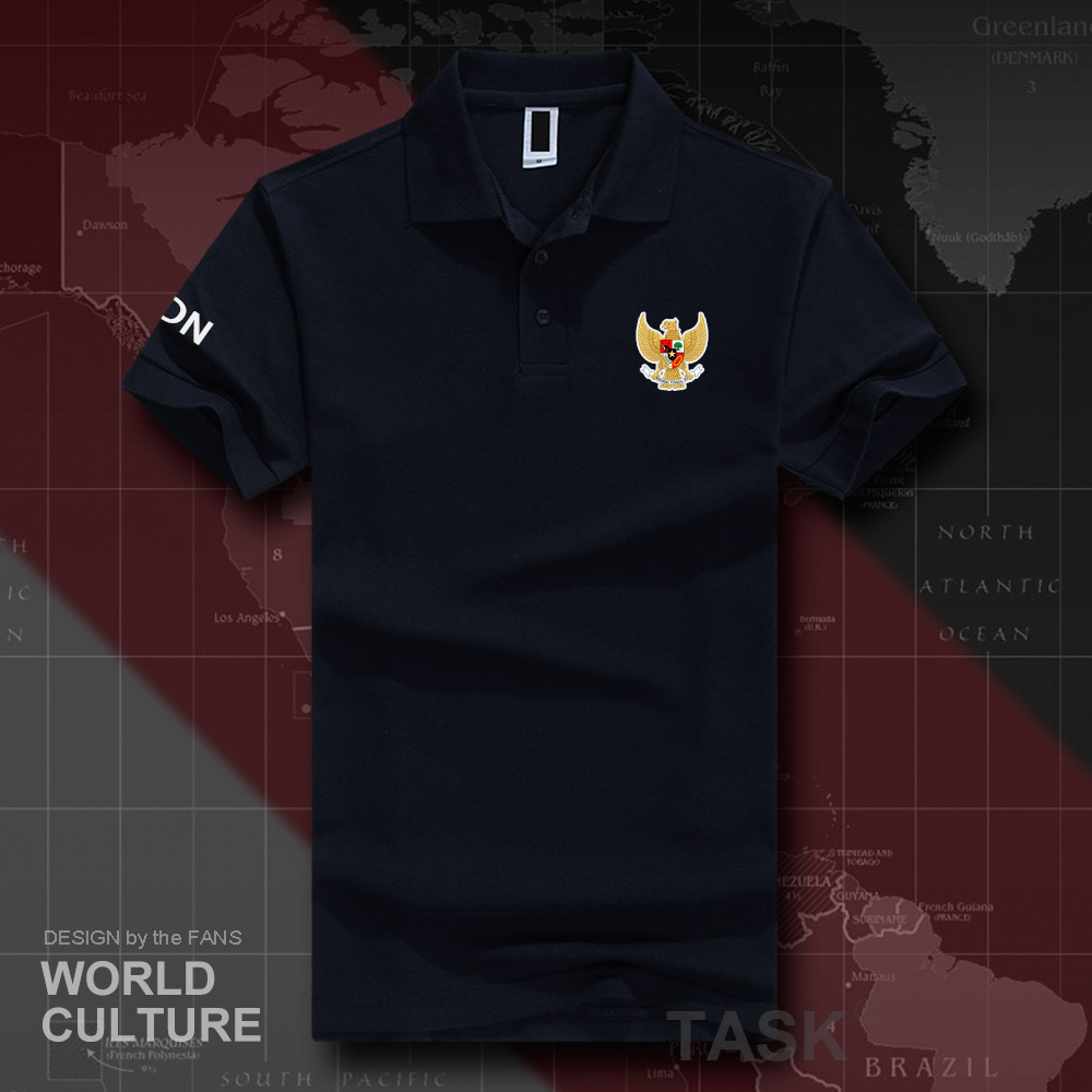 Indonesia Indonesian IDN ID   polo   shirts men short sleeve white brands printed for country 2018 cotton nation team flag new 20