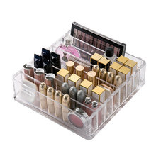 Plastik PS Makeup Organizer CC Cream Kotak Penyimpanan Kejelasan Kosmetik Makeup Pemegang Kesombongan Kabinet Powder Rak Display Escritorio(China)