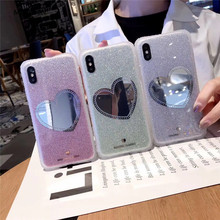 Luxury Mirror Glass Color Cases Cell Shell for the Back Cover of iPhone 7 Plus case 8 6 6s x s Max XR