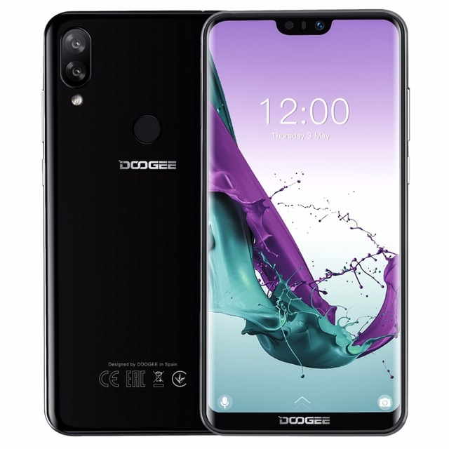 DOOGEE N10 Mobile Phone 16.0MP Front Camera 3360mAh Android 8.1 4G LTE Octa Core 3GB RAM 32GB ROM 5.84inch FHD+ 19:9 Display OTG