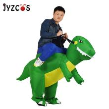 JYZCOS TRex Purim Dress Halloween Dinosaur Inflatable Costumes Dragon Adult Ride a Orange Dinoasur Funny Fancy Party Christmas