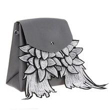 Новый Дамские туфли из PU искусственной кожи Рюкзак Мода Крылья Broderie рюкзак мешок школы для подростков Meninas Mochila обратно мешок