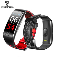 VESTMADRA Q8S IPS Color Screen Smart Bracelet Blood Pressure Fitness Tracker Smart Wristband Heart Rate Monitor