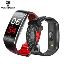 VESTMADRA Q8S IPS Color Screen Smart Bracelet Blood Pressure Fitness Tracker Wristband Heart Rate Monitor Waterproof Watch