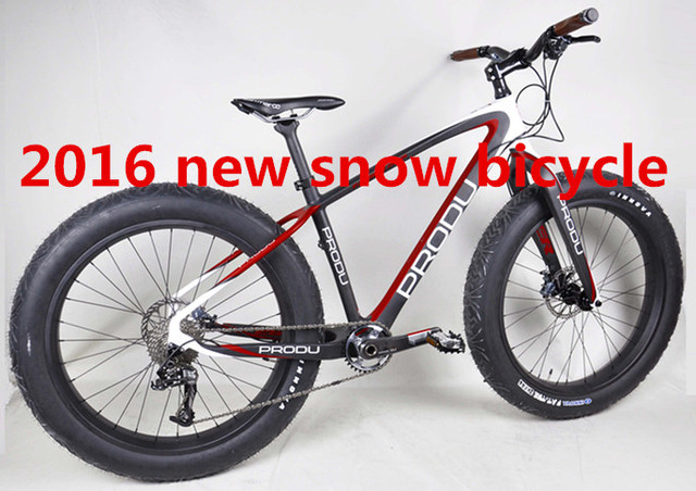 popular design PRODU logos 26er fat bikes complete snow bicycles with groupset, wheels and all bicycle parts
