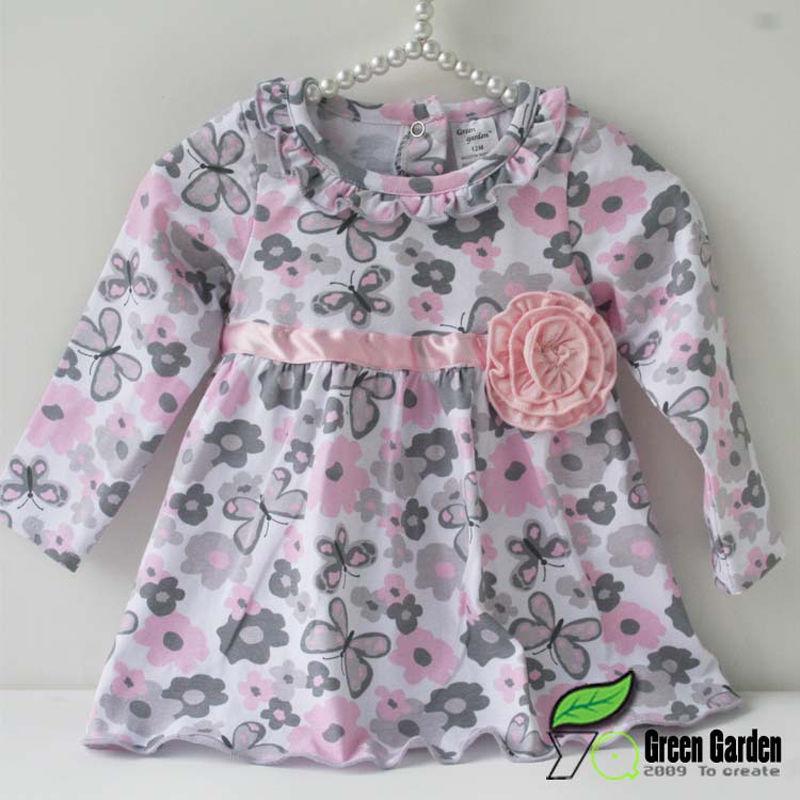 6e79d47eb10b Autumn New 12 18 24 Months Floral Peplum Dress + Pant Outfit Baby ...