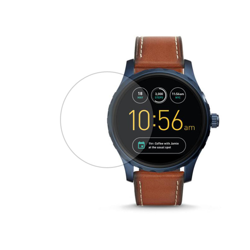 Tempered Glass Protective Film Ultra Clear Guard For Fossil Q Marshal Gen 2 Gene