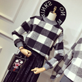 Pullovers Women Pull Pullover Cotton Fashion Computer Knitted O-neck Full 2017 Hot New Stylish Plaid Sweater Was Hedging Warm