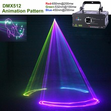 AUCD 500mW / 1W DMX RGB Animation Laser Projector Light DJ Party Nightclub Professional Wedding Show Stage Lighting F6A