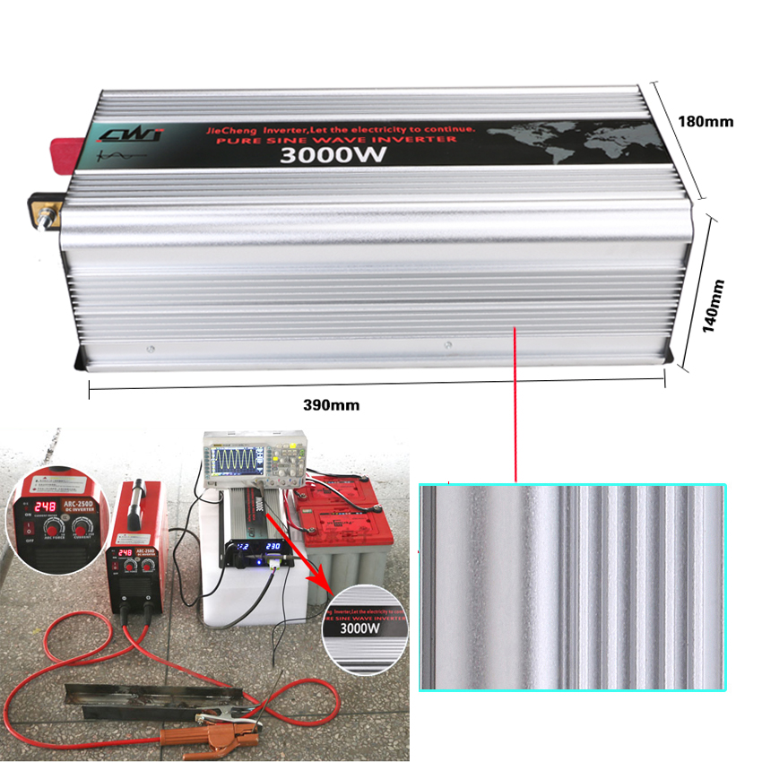цена на 3KW 3000W Frequency inverter 3000W Pure sine wave DC 12/24/48V to AC 110V/220V Grid Tie inverter converter Peak 6000W 50Hz/60Hz.