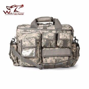 Military Style Men Briefcase Laptop Bag Crossbody Shoulder Handbag Male Messenger Bag Portfolio