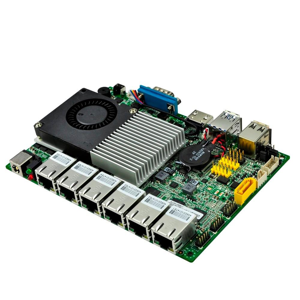 6 gigabit LAN scheda PC Core i5-6200U 3 m di Cache, fino a 2.80 ghz 6th Generazione Q6200UG6-P AES-NI Kabylake Piattaforma 12 v