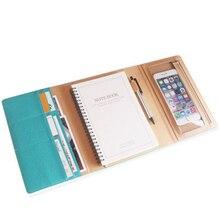 A5 cor sólida caderno planejador escola escritório loose leaf agenda 2021 caderno papelaria capa dura atadura diário diário bloco de notas