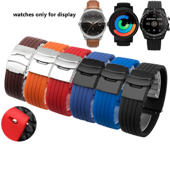 PEIYI watchband For Ticwatch Color Silicone Replacement Strap 20MM/22MM Ticwatch 1/2/E/Pro Watchband Spark Strap Wrist Band