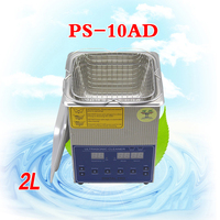 1PC 110V/220V PS 10AD 80W 2L Ultrasonic cleaning machines circuit board parts laboratory cleaner/electronic products etc