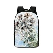 Школьные Рюкзаки для студентов Colleger, 3D цветок печати школьный рюкзак, женщины рюкзак, bookbags для девочек, колледжа mochila