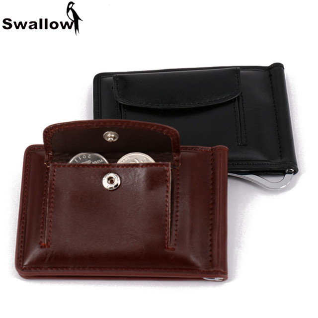 SWALLOW Convenience Leather Coin Purse For Men Short Male Purse With Coin Pocket Dollar Price