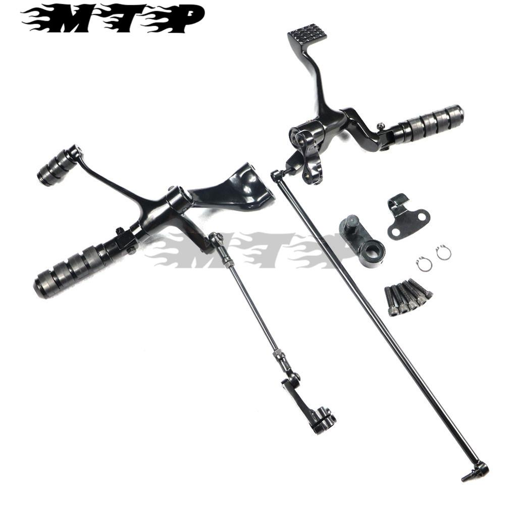 forward controls complete kit with pegs levers linkage for harley sportster 1200 883 iron super