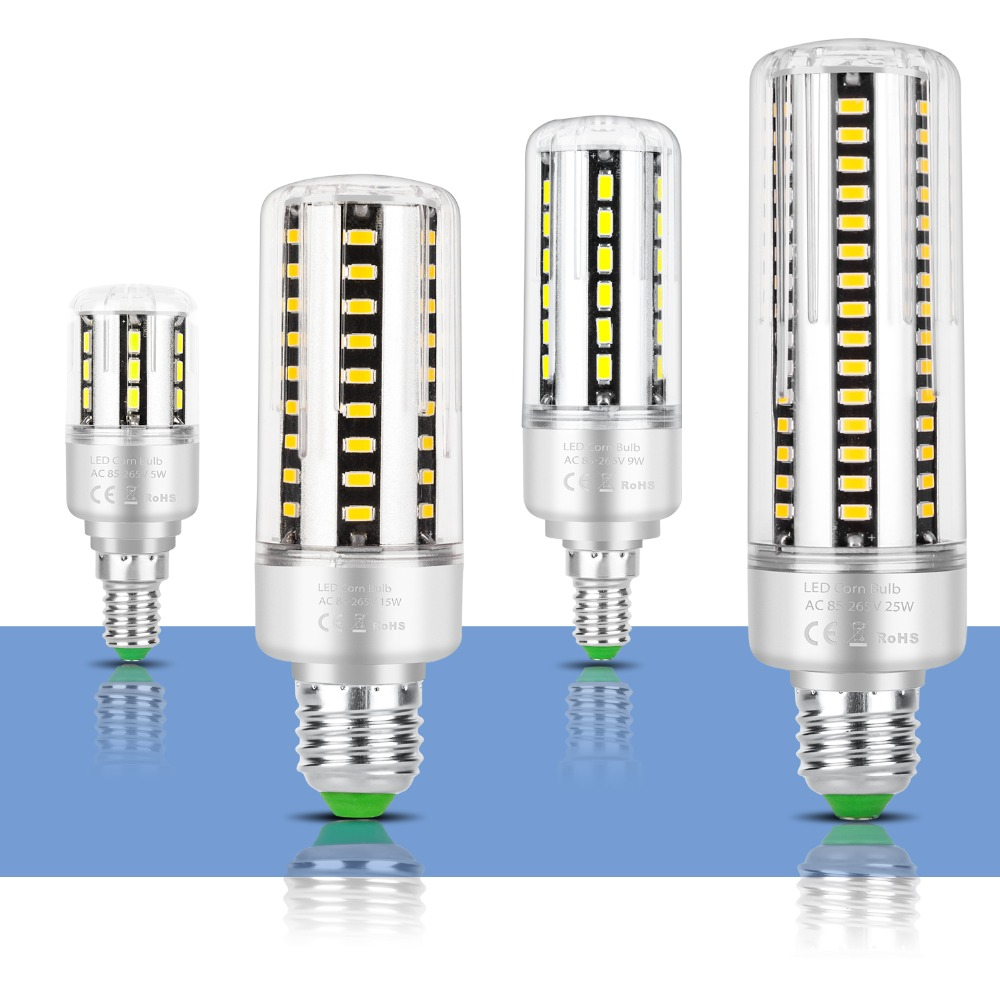 E27 LED Lamp E14 No Flicker LED Bulb SMD 5736 Ultra Bright LED Corn Lamp 5W 7W 9W 12W 15W 20W 25W Aluminum Light Bulb AC85-265V