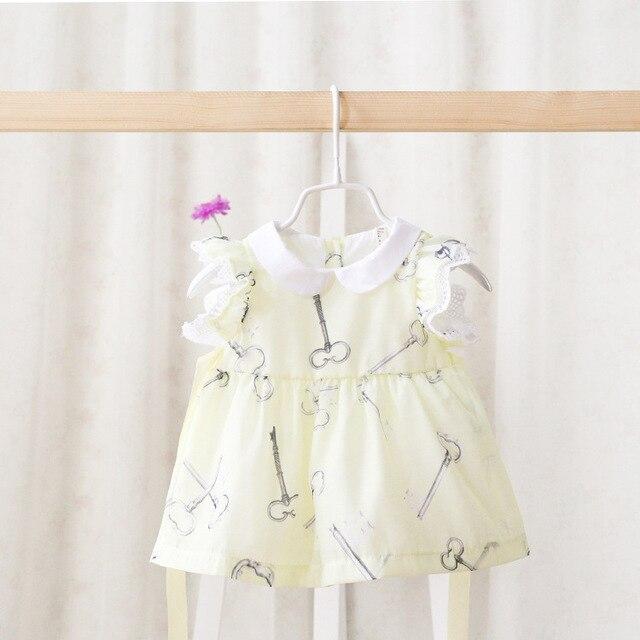 Новый 2016 Идея девочка Цветок Платье для Летнего bebes девушки младенческой сладкий Платье Детей Принцесса Платье Одежда