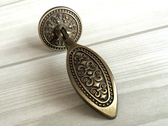 Tear Drop Dresser Drawer  Handles Antique Bronze / Kitchen Cabinet Knobs Handle Knob Furniture Knob Hardware Vintage Style 6pcs bronze chinese door handle wardrobe handle kitchen knobs cabinet hardware vintage handles decorative knob asas para cajones