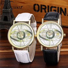 Vansvar Watch Candy Color Planetary pattern  Male And Female Strap Wrist Watch Stylish Unique Design Simple Style Watch M25