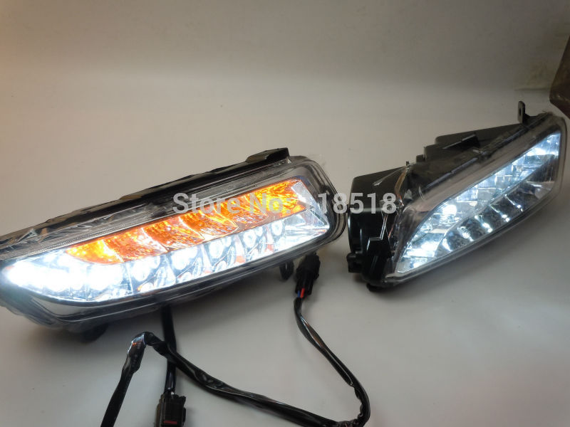 free shipping, VW polo led drl daytime running light fog lamp+Yellow turn signals+automatic OFF and Dim function+fog lamp frame free shipping new pair halogen front fog lamp fog light for vw t5 polo crafter transporter campmob 7h0941699b 7h0941700b