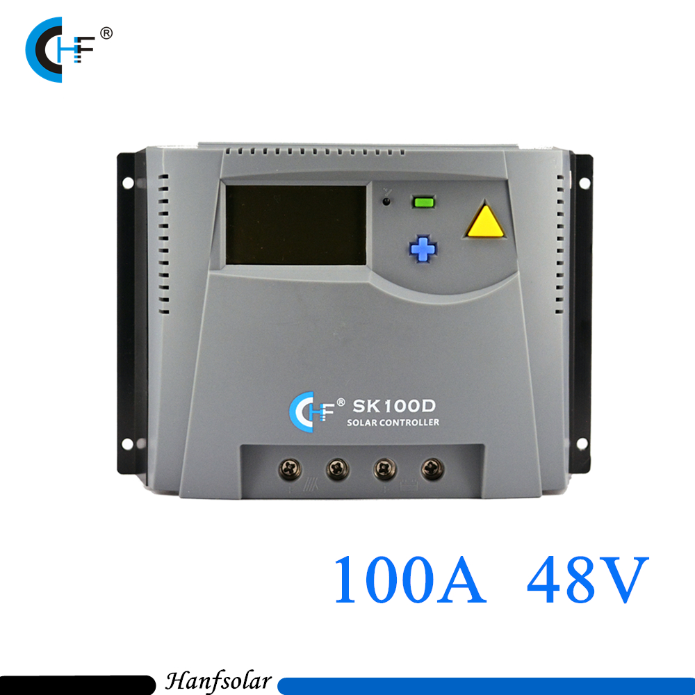 100A Big Current Solar Charge Controller LCD Display 48V auto Light Timer Control Off-grid Controller Adjustable Parameter solar charger controller 12v3a adjustable light control timer to take the amount of low priced factory outlets