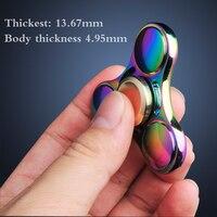 Metal Fidget Spinner Hand Spinner EDC Tri Spinner Alloy Anti Stress Pattern Toys
