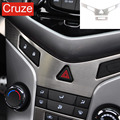 For Chevrolet Cruze hatchback car Stainless steel center console Y type panel and In-car air circulation button panel stickers