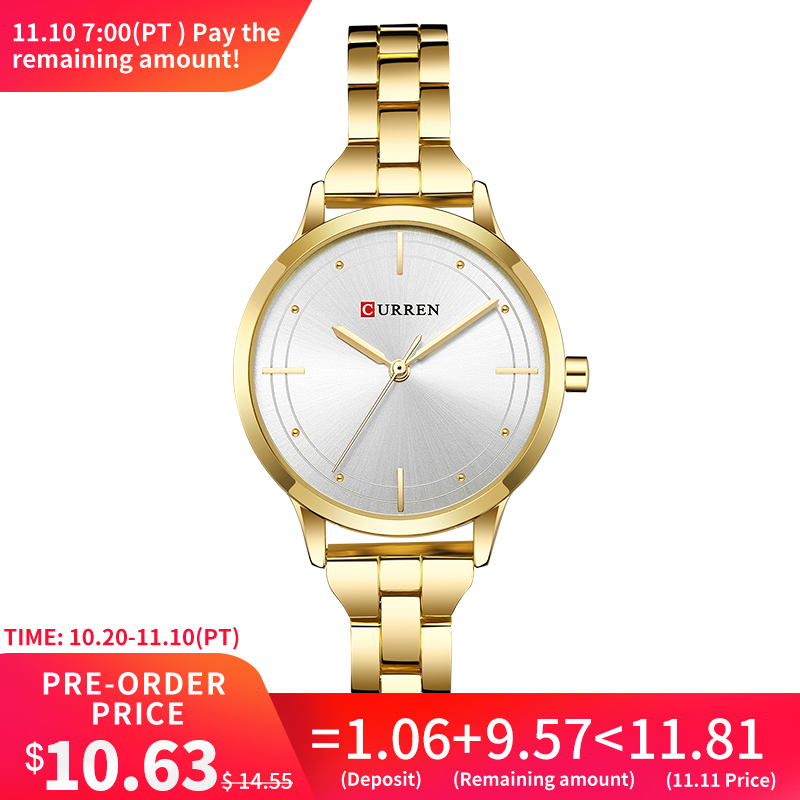 CURREN 9019 Watch Women Casual Fashion Quartz Wristwatches Creative Design Ladies Gift relogio feminino dropshipping vintage women mini design wristwatches fashion casual leather simple quartz watch gift clock relogio feminino
