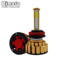 BJMOTO 1 pair Car Headlight H7 H4 H11 LED Auto Head Lamp G7 Automoile Bulb Headlamp 6000K Light