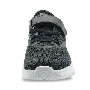 Image 4 - Apakowa meninos grandes rendas até tênis de corrida crianças pequenas gancho e laço confortável malha respirável tênis esportes ginásio jogging andando sapatos