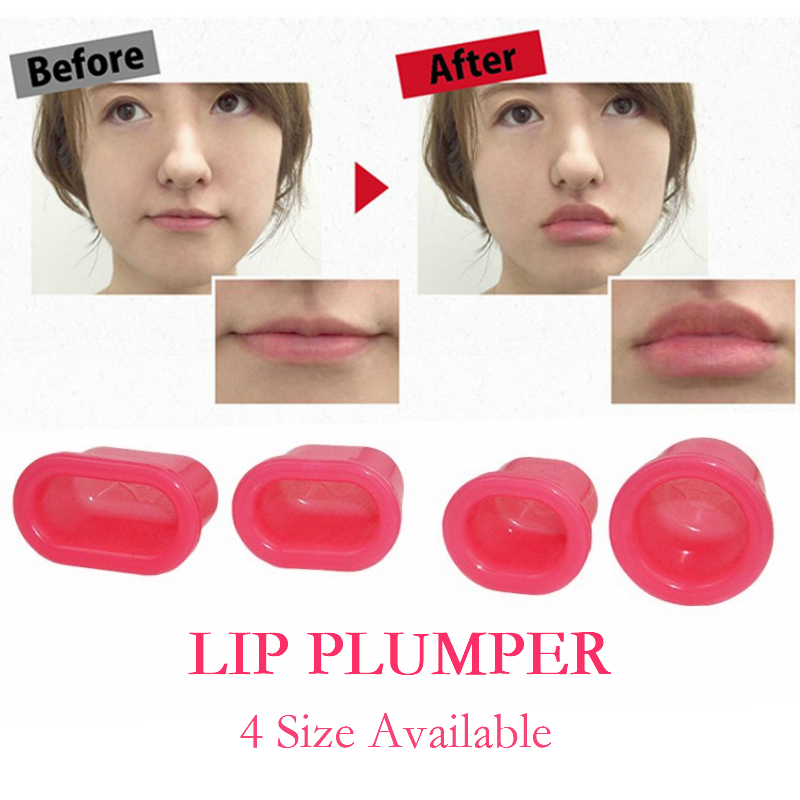 Pink Soft Lip Plumper Lip Enhancer Silicone Plumping Plump Suction Tools Charming Sexy Lip Beauty Tools Women 3 Size Available