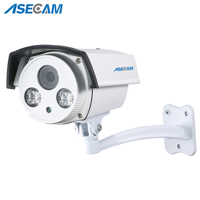 New 1080P IP Camera H 265 Epistar Array Infrared Night 48V POE Bullet Waterproof WebCam Security