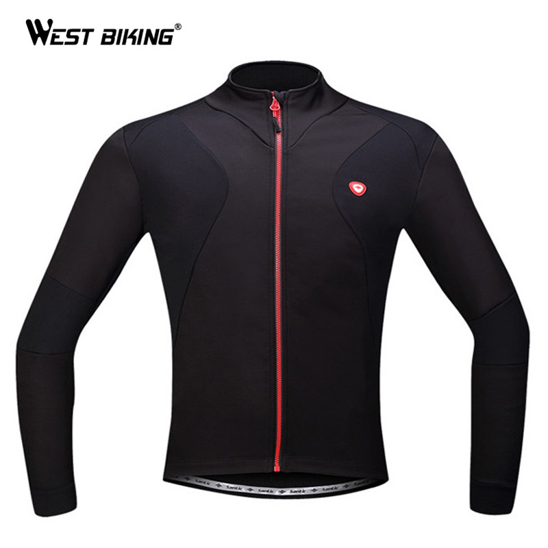 WEST BIKING Ropa Ciclismo Cycling Clothing Sport Fleece Thermal Jacket MTB Running Hiking Bike Bicycle Cycling Jersey Winter west biking antiskid training station mtb road bike exercise bicycles fitness station bike cycling bicycle training rollers