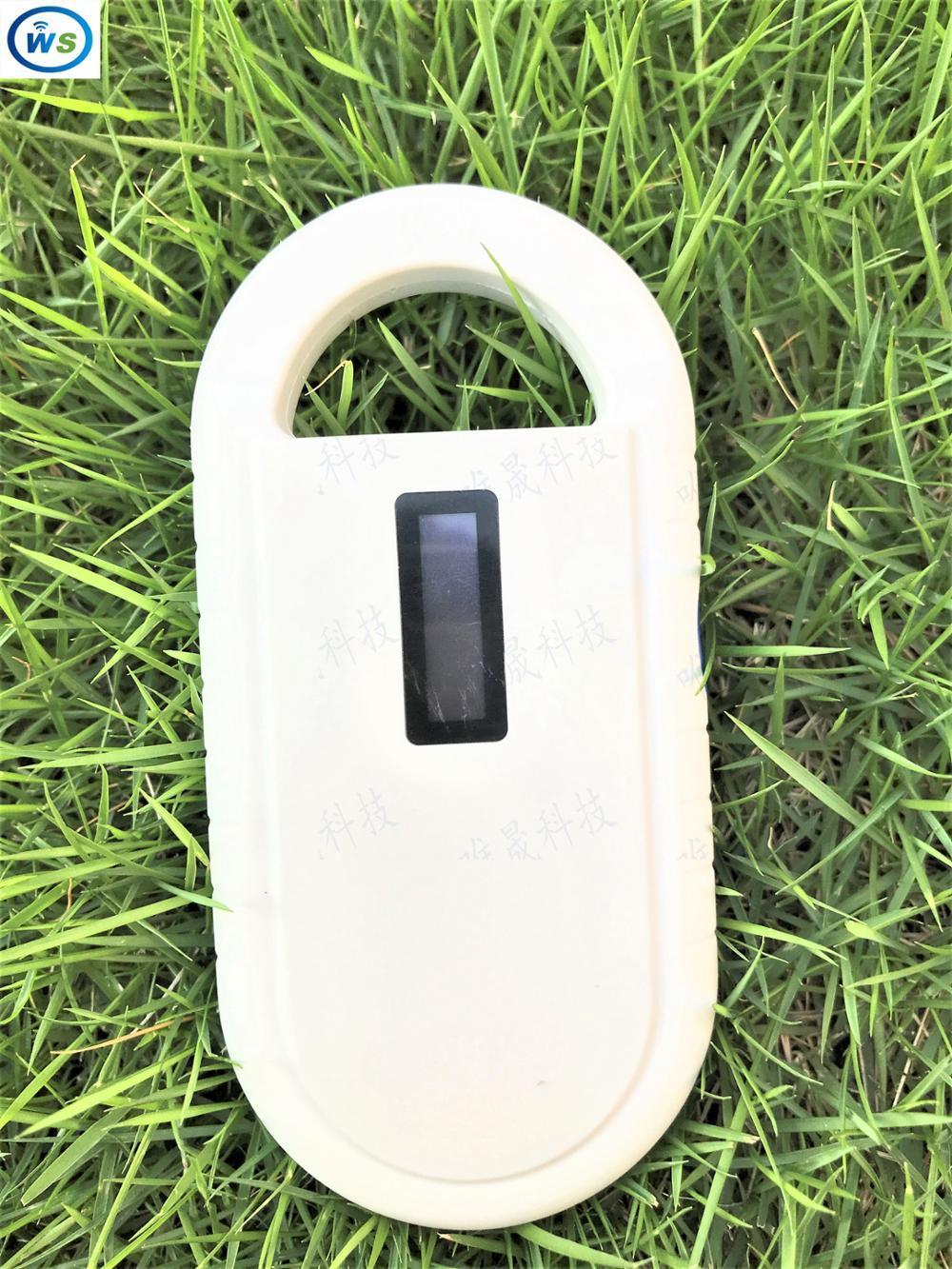 цена на Hot-sale 2017 WS product ID 134.2KHz FDX-b Glass Microchip RFID Pet Handheld reader