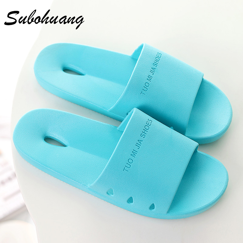 Hot Sale Non-slip Indoor Home Summer Women Slippers Beach Hollow Bathroom Flat Shoes Solid PVC Couple Fashion Slippers Wholesale 50%off men shoes summer eva massage foam beach flat sandals non slip bathroom household room indoor home house shoes