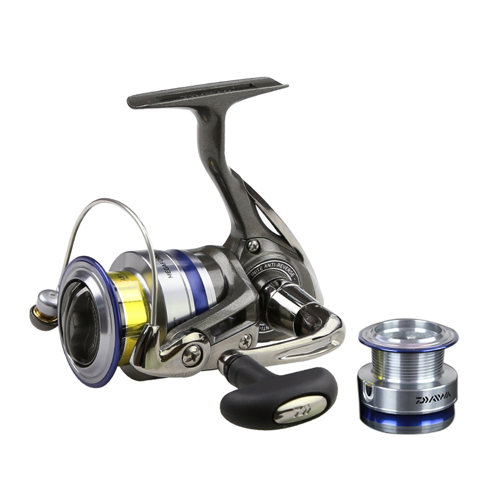 DAIWA 5 3 1 MEGAFORCE Spinning Fishing Reel with Spare Spool 2000A 2500A 3000A 4000A Spinning