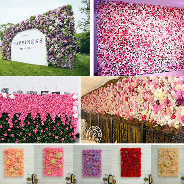 40x60cm Artificial Silk Rose Flower Wall Decoration Beautiful Party