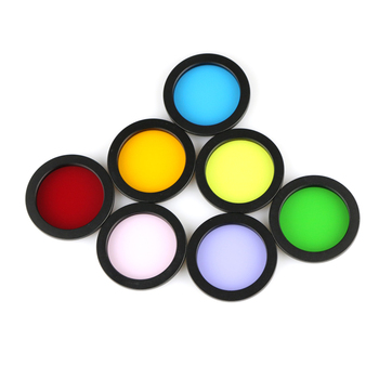 2 Inch Telescope RGB Filter Astro Filters for Astronomical Telescopes Lens - 7 Colors Kits